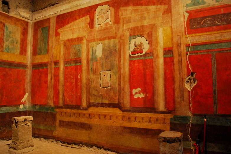 Augustus Caesar's House: 2000 Year Old Fresco