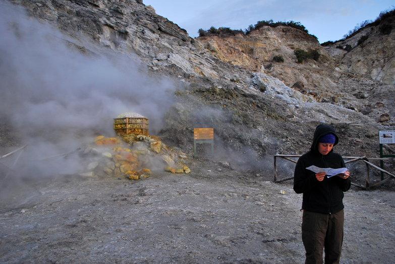 Tara in Solfatara Volcano Crater