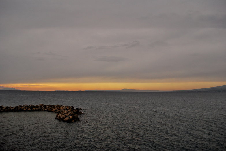Sunset North of Amalfi Coast