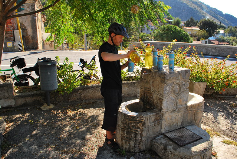 Tyler Refilling Water