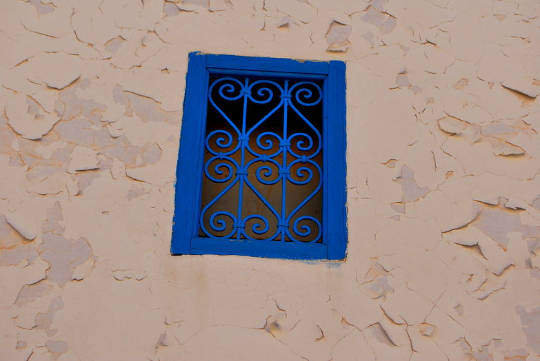 Blue Window Grate