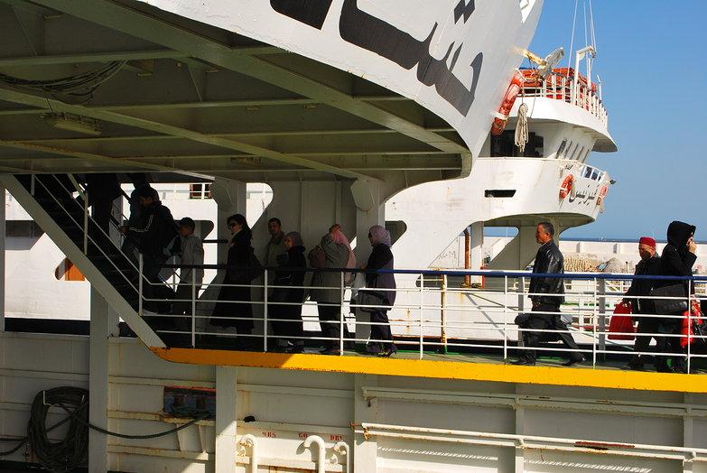 Ferry-goers