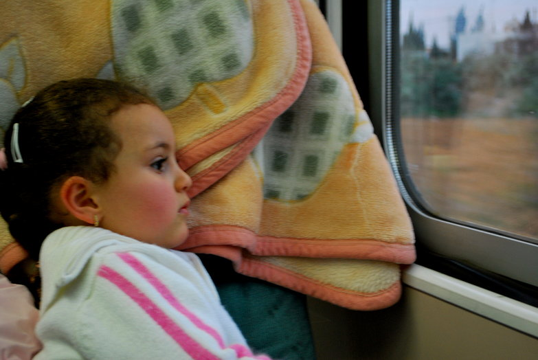 Little Girl on Train