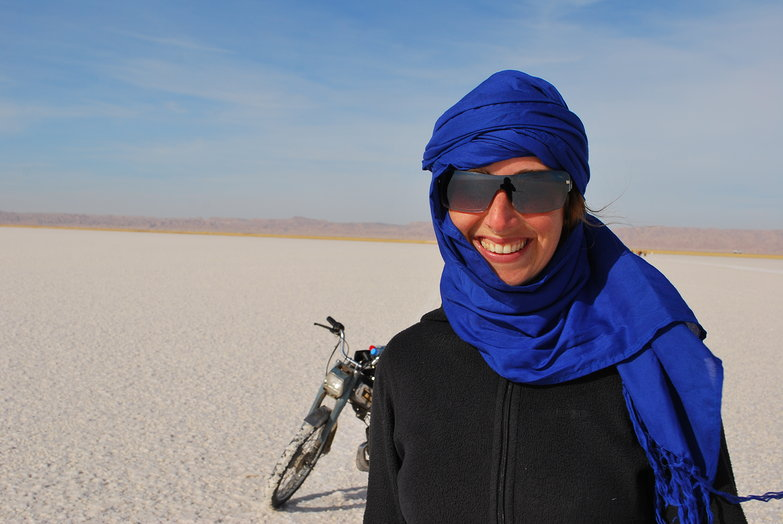 Tara on Chott el Jerid