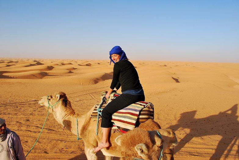 Tara Riding a Camel