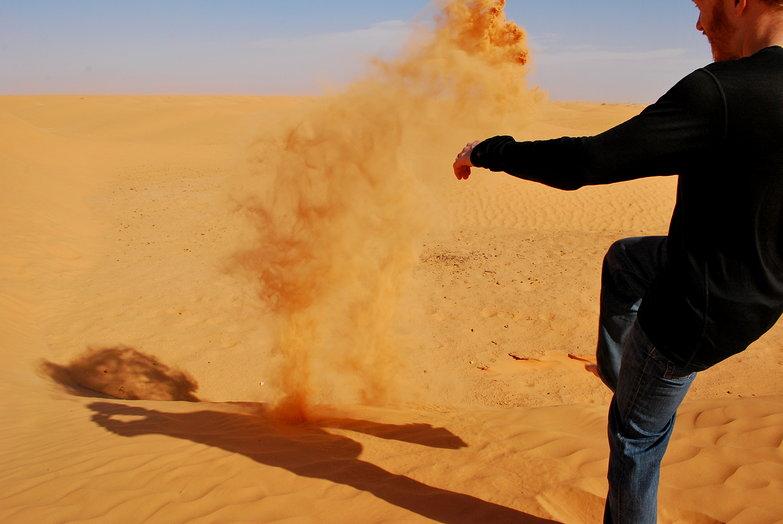 Tyler Kicking Sand