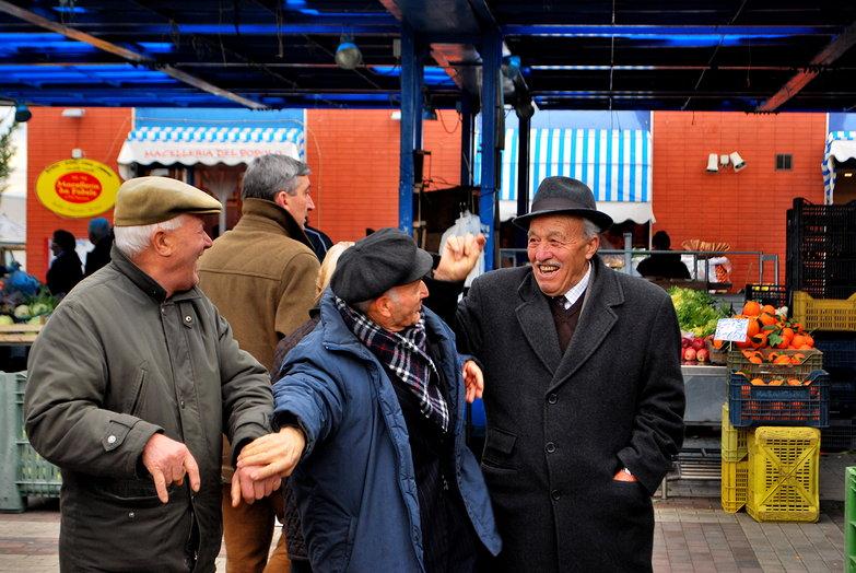Matera Market Men Goofing Around