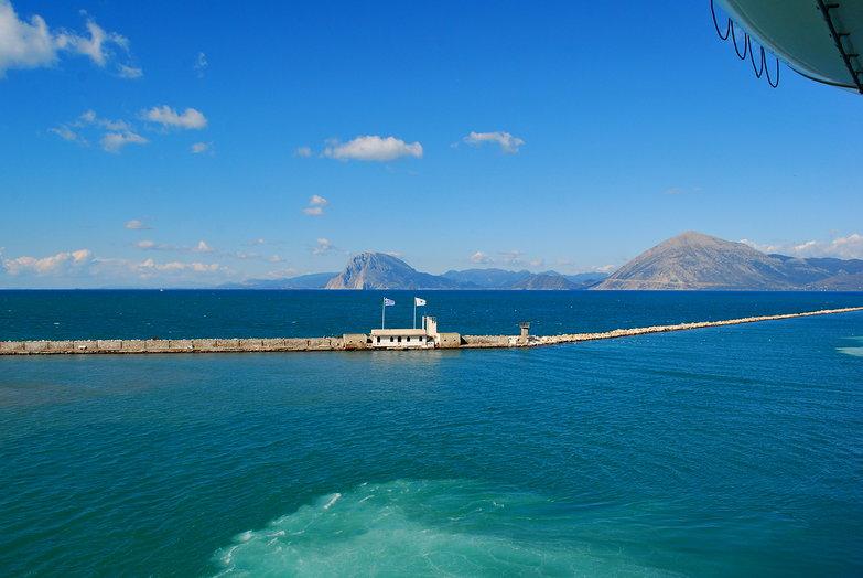 Coming into Patras Port