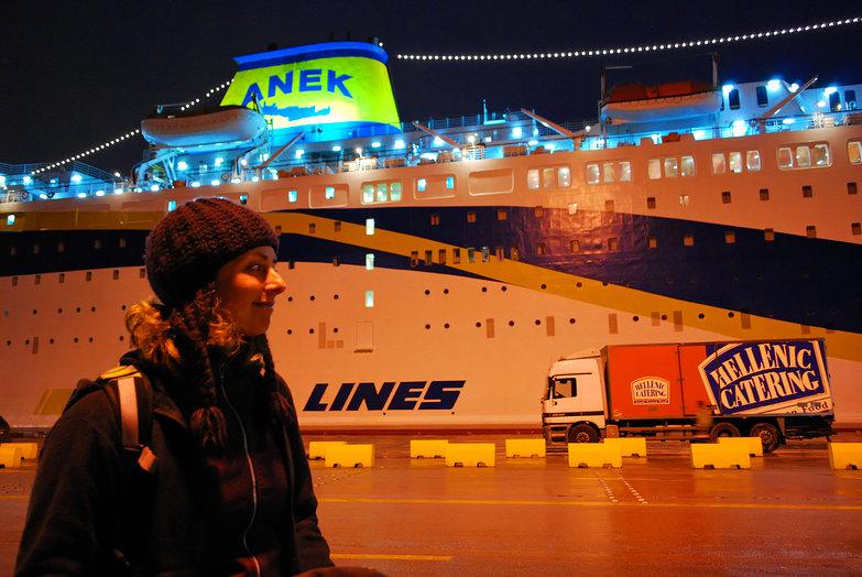 Tara @ Piraeus Ferry Port