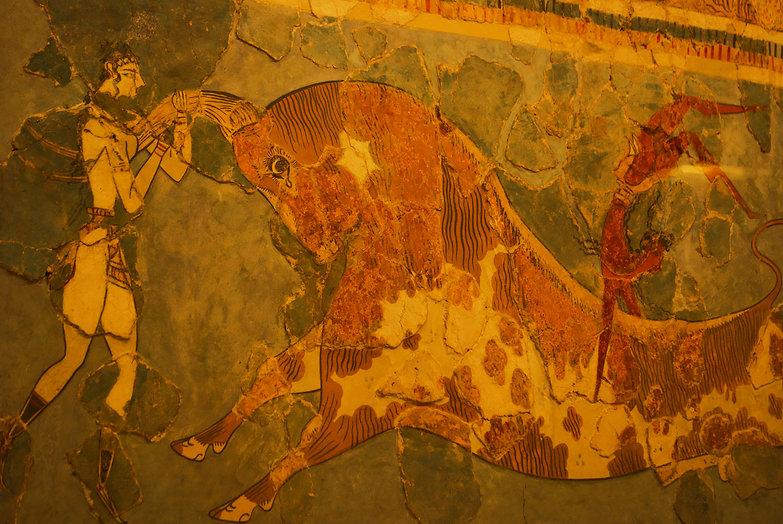 Minoan Bull Jumper Fresco