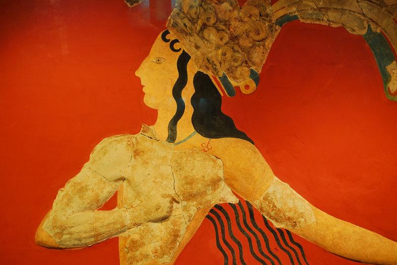 Minoan Prince of Lilies Fresco