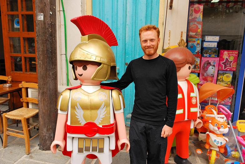 Tyler & Lego Roman Soldier