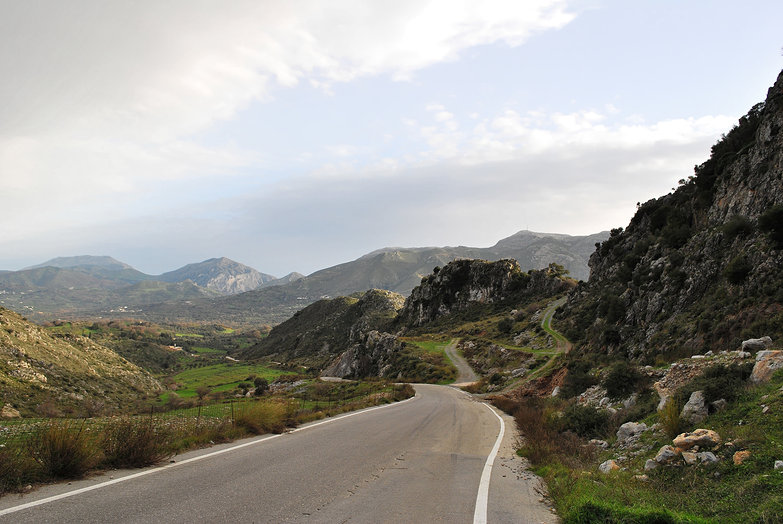 Cretan Mountain Road