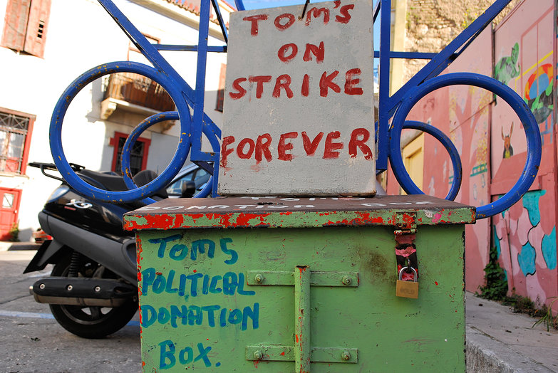 Tom's Political Donation Box