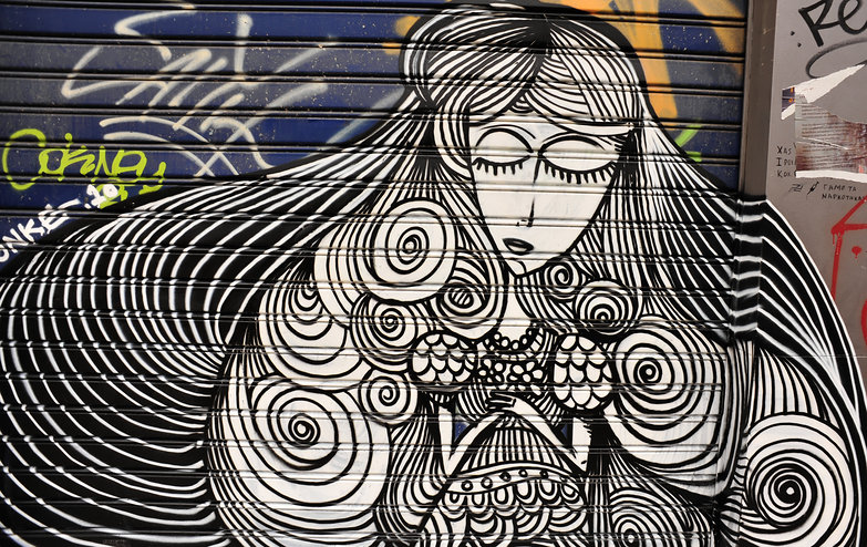 Swirly Woman Graffiti
