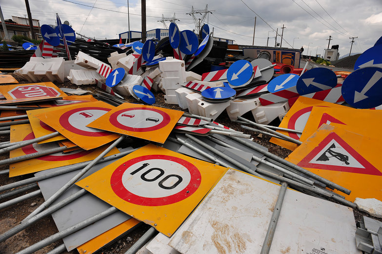 Road Sign Graveyard