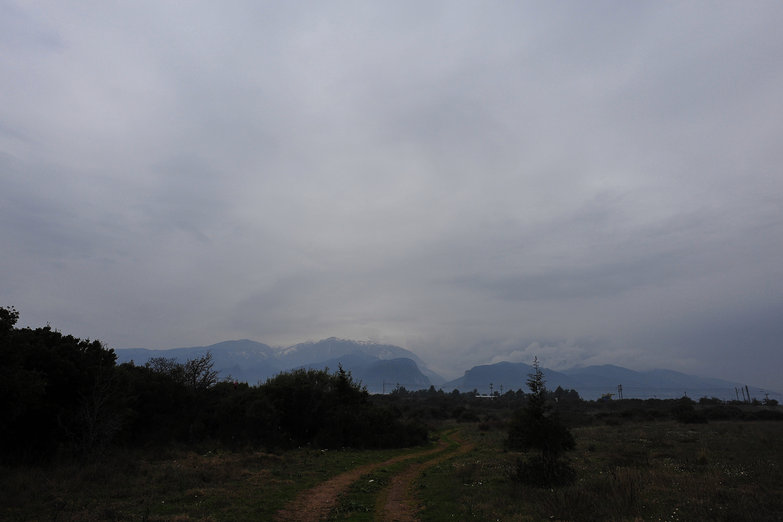 Cloudy Mount Olympus