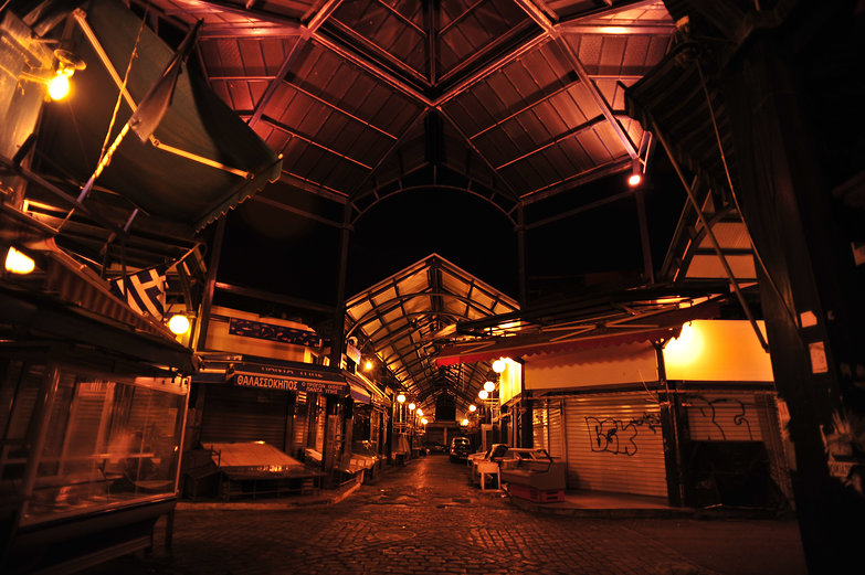 Thessaloniki Market by Night