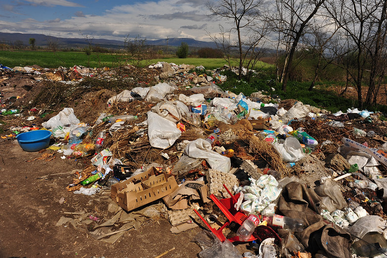 Serbian Countryside Trash Heap