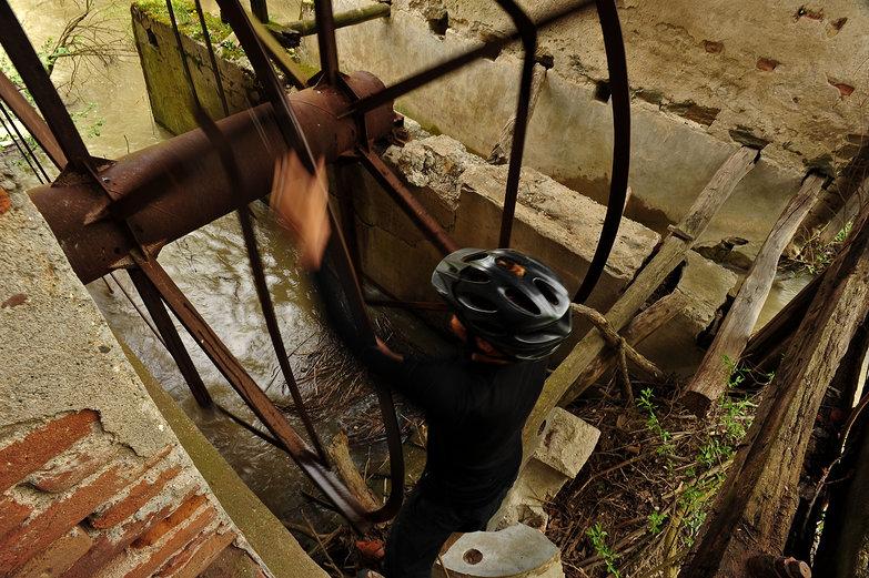 Tyler Turning Water Wheel