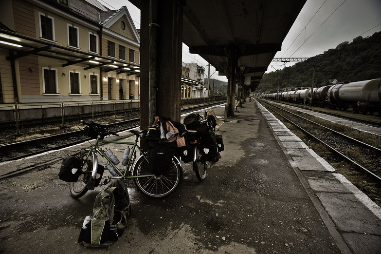 Our Bikes @ Sighişoara Train Station