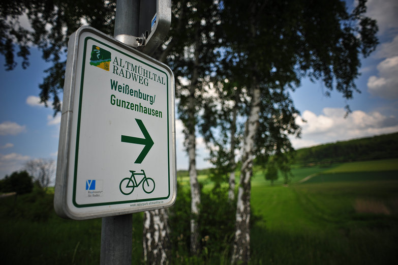 Weissenburg / Gunzenhausen Bike Path Sign