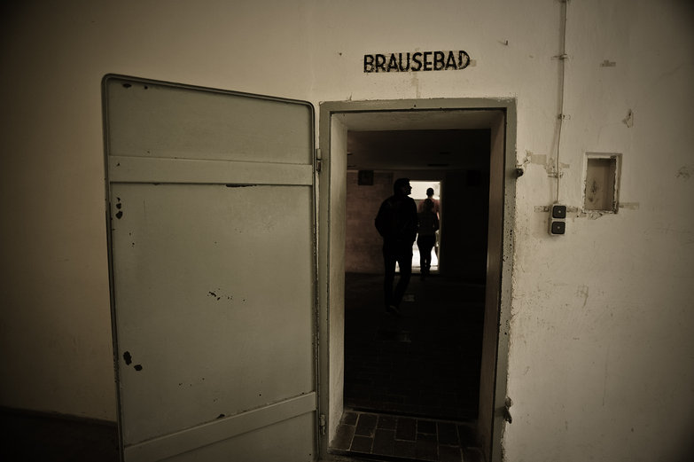 Dachau Gas Chamber Entrance: Brausebad = Showers