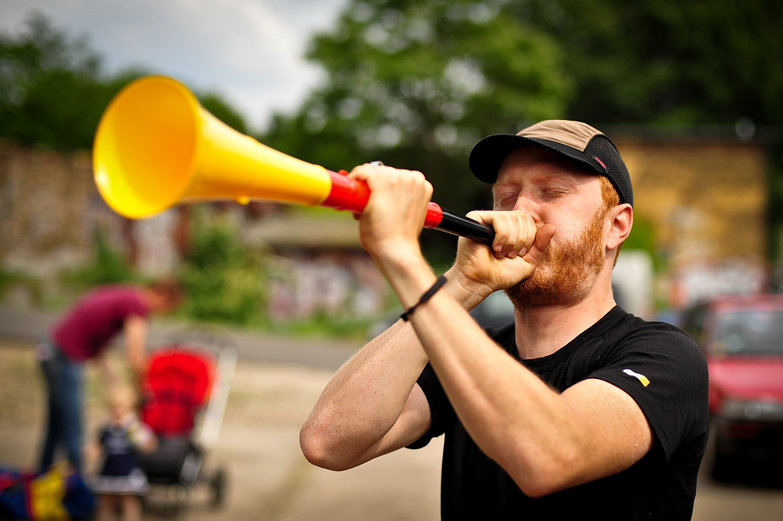 Tyler Blows the Vuvuzela
