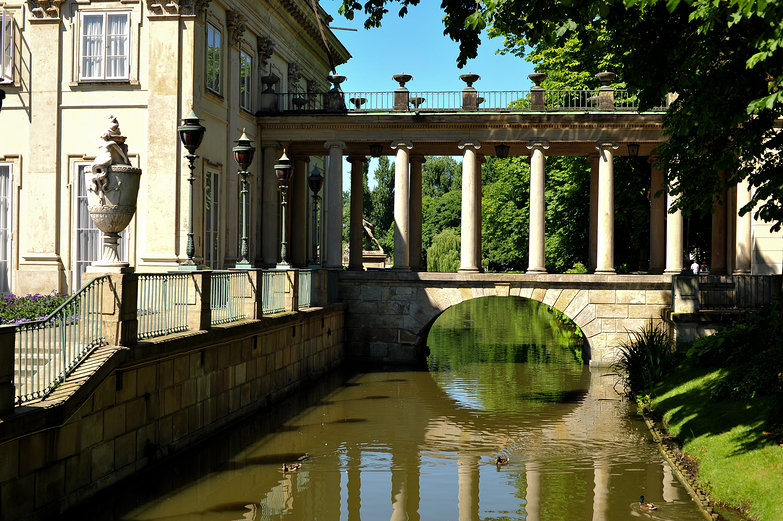Lazienki Park Palace on the Water
