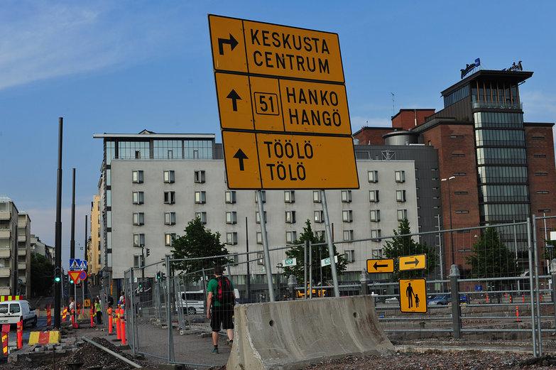 Helsinki Roadsign