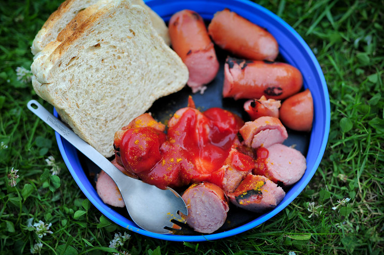 Camp-Made Currywurst