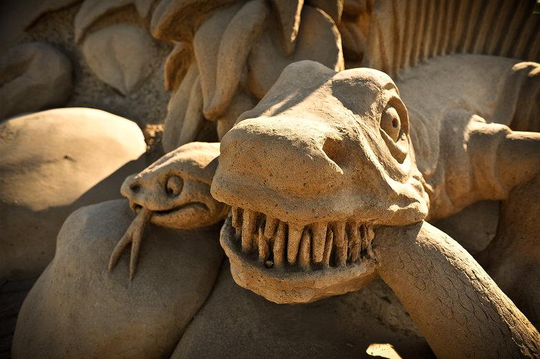 Dinosaur Sand Sculpture