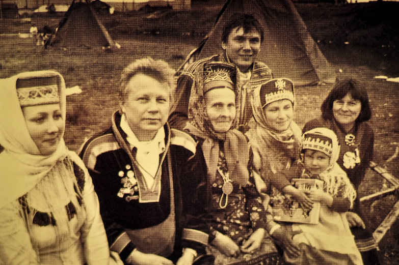 Traditional Saami Family