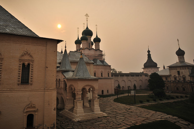 Sunset Inside Rostov Kremlin
