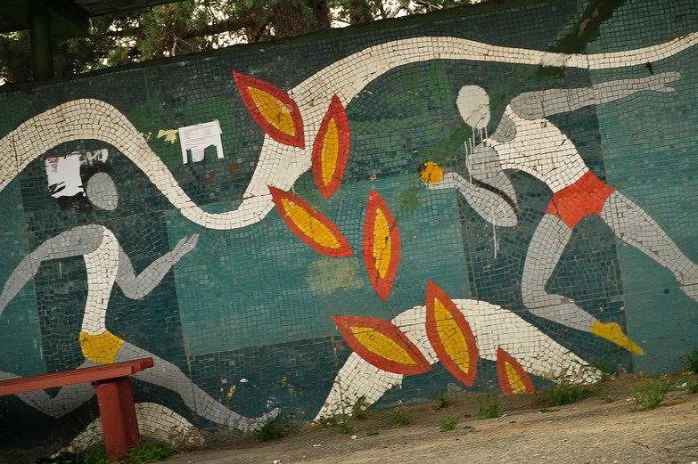 Russian Bus Stop Mosaic
