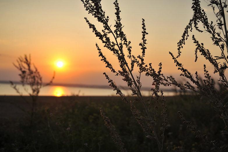 Sunset over the Kama
