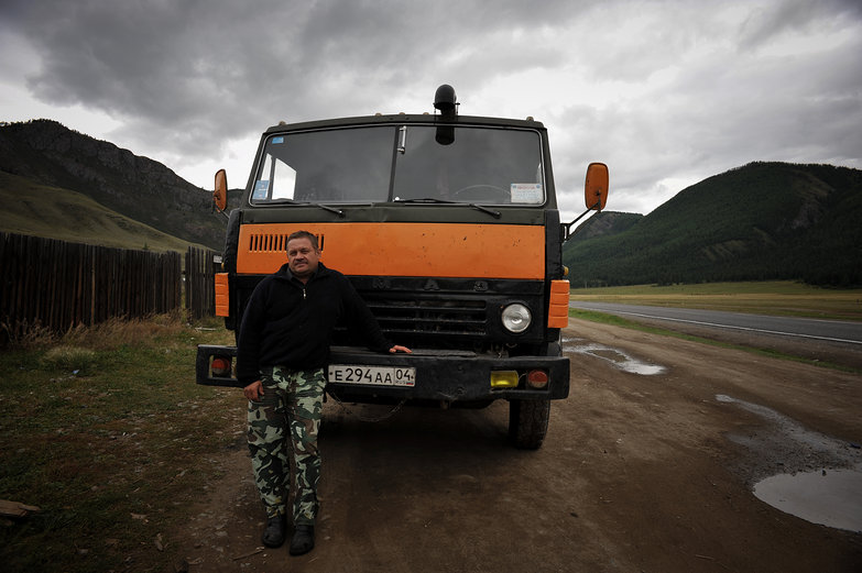 Russian Man & His Truck