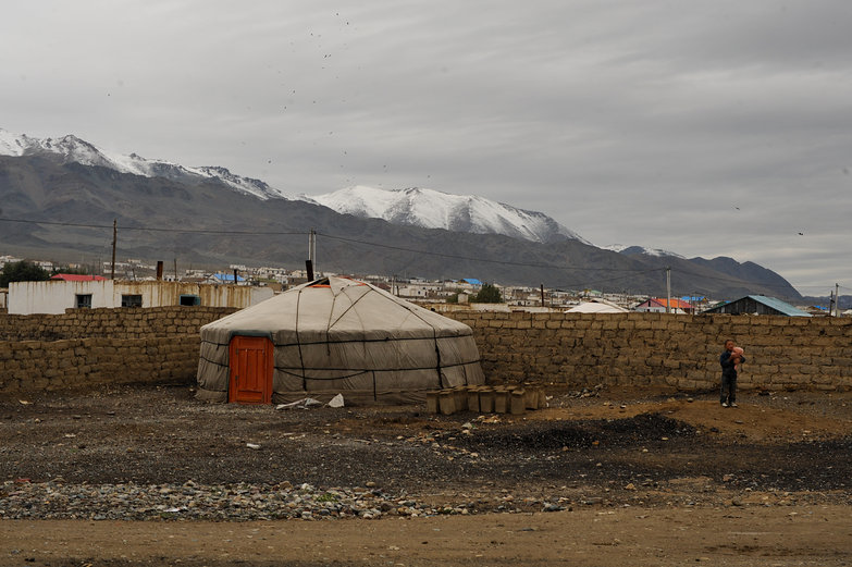Ger in Ölgii, Mongolia
