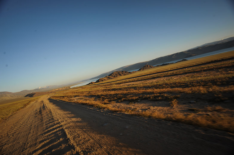 Mongolian Washboard Road