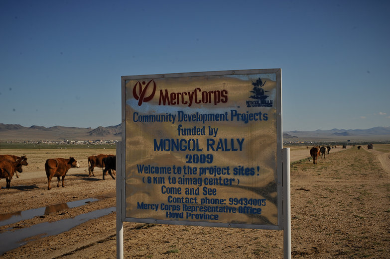 Mongol Rally Sign