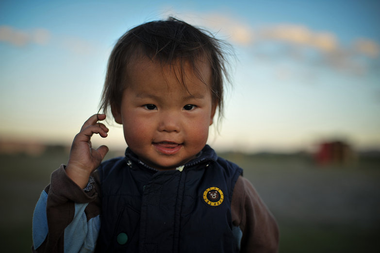 Cute Mongolian Kid