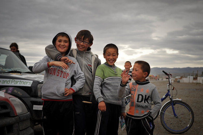 Friendly Mongolian Kids