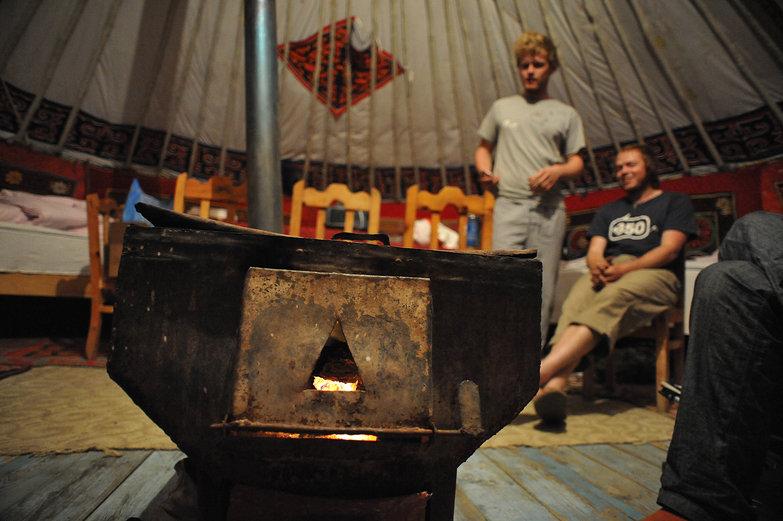 Charlie & Tim in Mongolian Ger