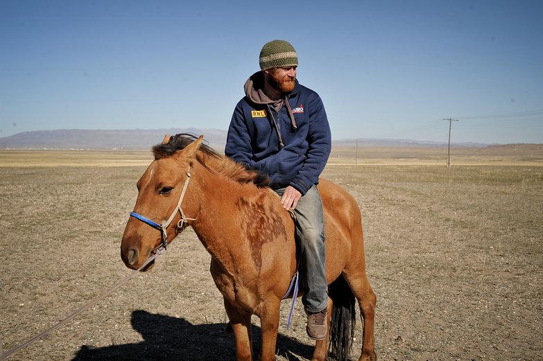 Tom Riding Horse