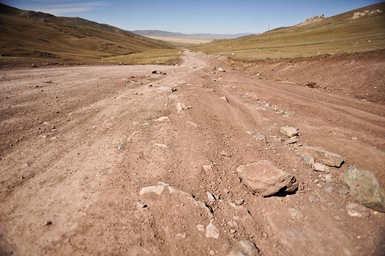 Rocky Mongolian Road