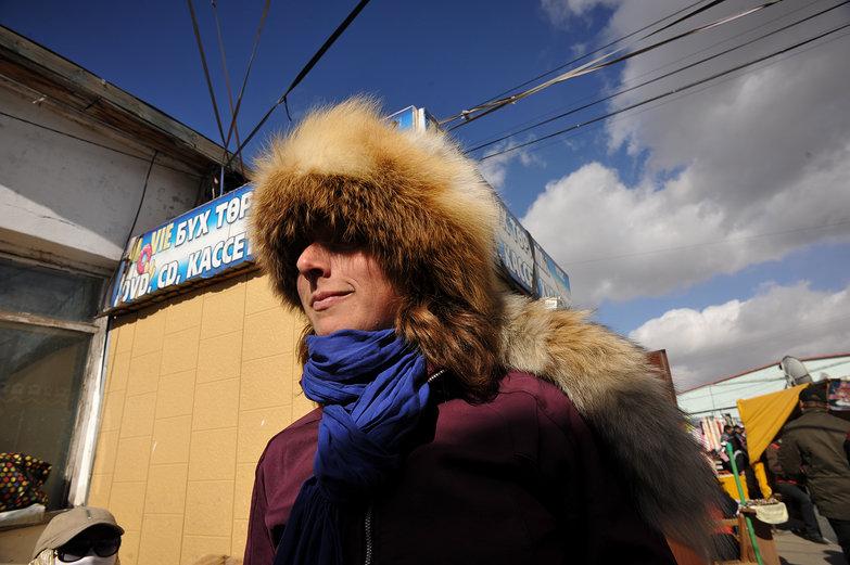 Tara in Mongolian Fur Hat