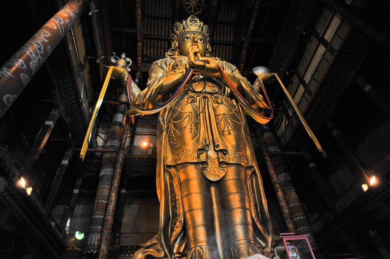 Giant Monastery Statue