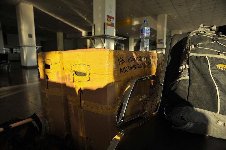 Our Bike Boxes in Chinggis Kaahn Airport