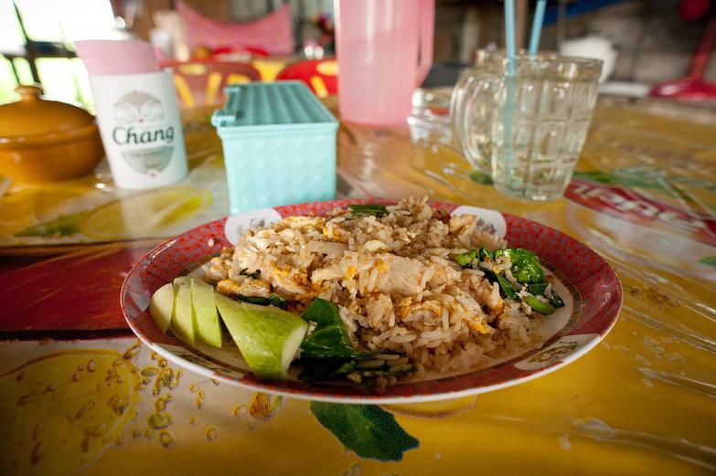 Garlic & Pepper Chicken Fried Rice