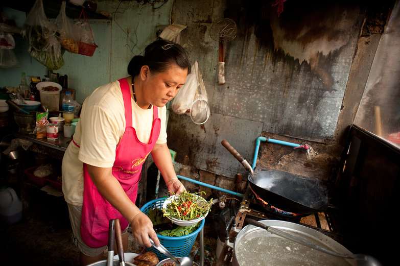 Thai Woman Cooking Our Lunch